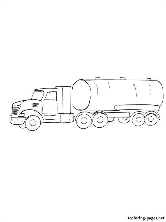 Coloring Page Oil Tanker Coloring Pages