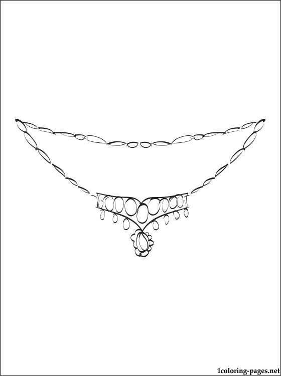 Wedding Necklace Coloring Page Coloring Pages