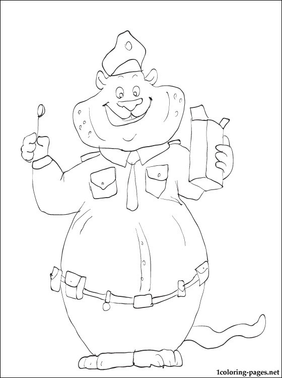 Clawhauser Cheetah From Zootopia Film Coloring Pages