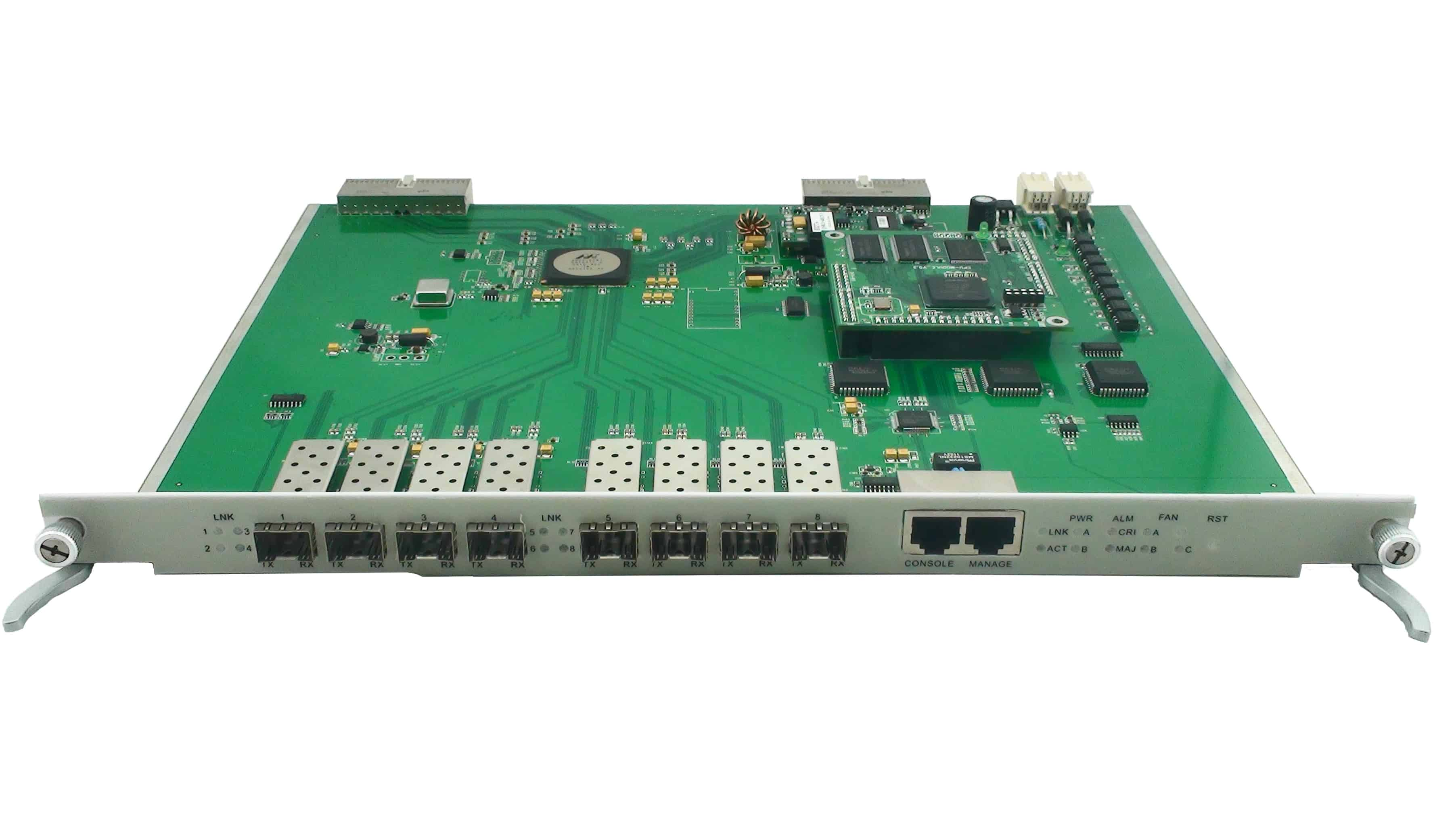 Main Control Card For Modular An E Olt Supports Snmp Mib Ems System And Control Functions