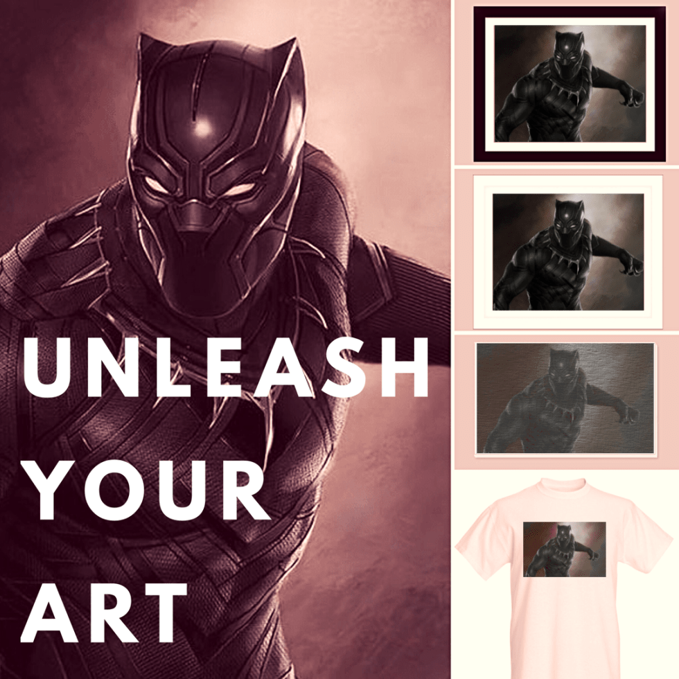 1create - black panther sell my art online