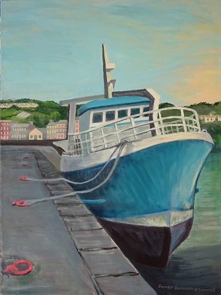 1create - The Blue Fishing Boat by James Donovan O'Connell