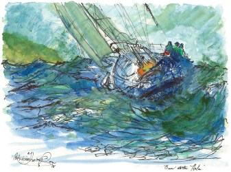 1create - 91 Ben at helm by Patricia Thompson Fine Art