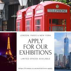 1create - Banner London Paris New York exhibition 2018