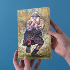 1create - greeting card dancing celt by gavin mayhew