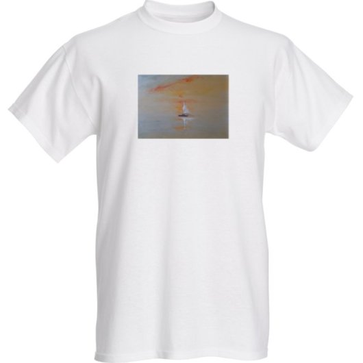 1create - t-shirt- Sailing-Boat-Onward by Mark Noble