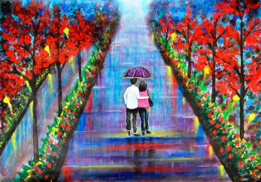 Love Blossoms romantic painting