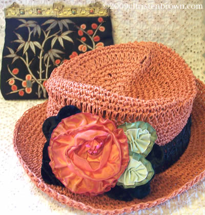 Melon Hat and Vintage Purse
