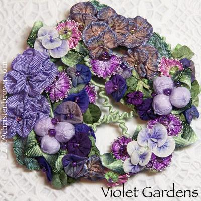 Violet Gardens Brooch