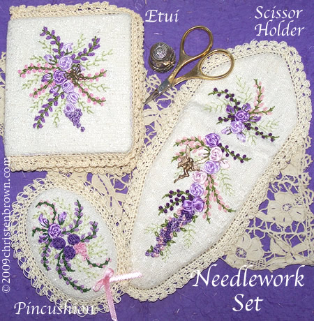 silk ribbon needle work set