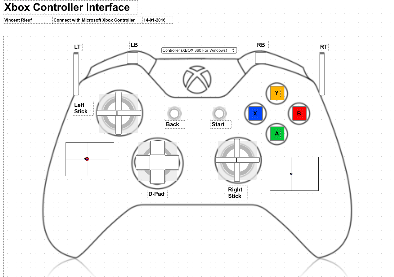 Xbox Controller Interface