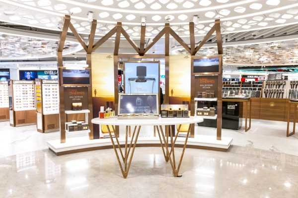 The shilla duty free hermes fragrance pop-up curated zone beauty&you hong kong international airport