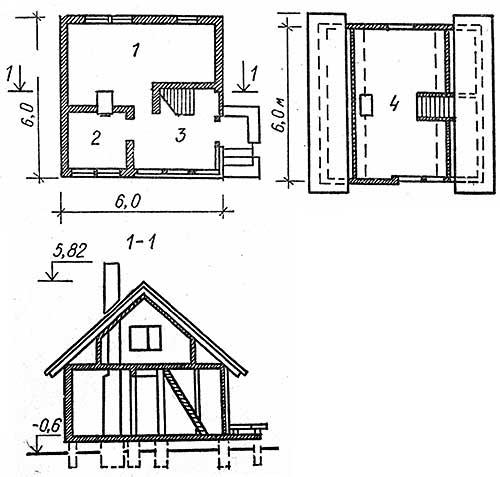 планы дома из кирпича