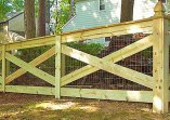 Декоративный дачный деревянный забор