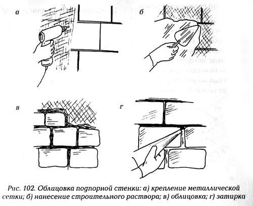 подпорные стенки чертежи 1