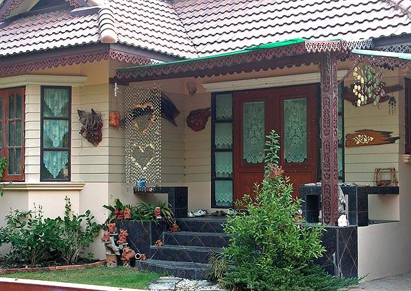 красивый двор частного дома 1