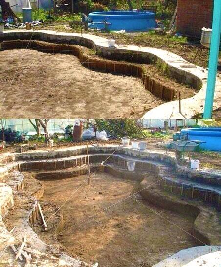Как сделать бетонный бассейн на даче