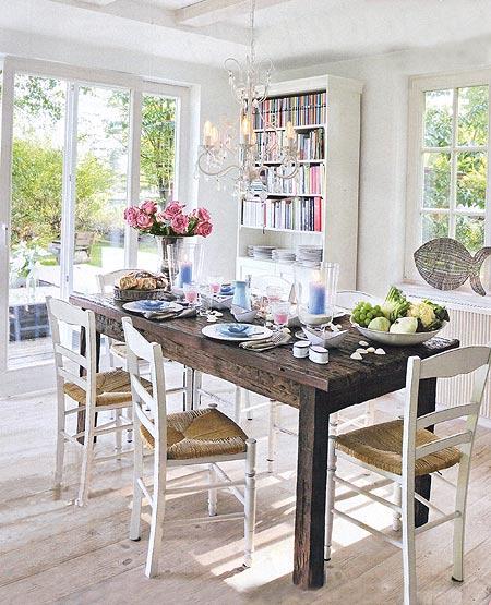 гостиная столовая интерьер