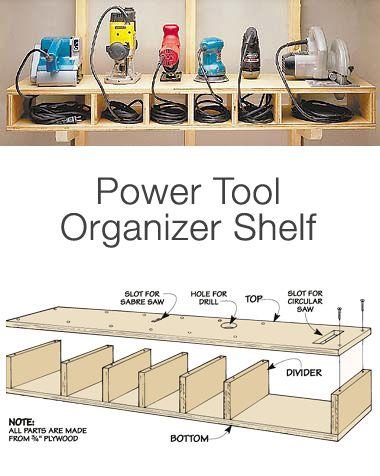 Полка для хранения электро инструментов