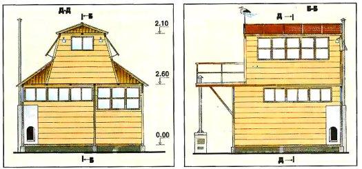 проект бюджетного двухэтажного дачного домика