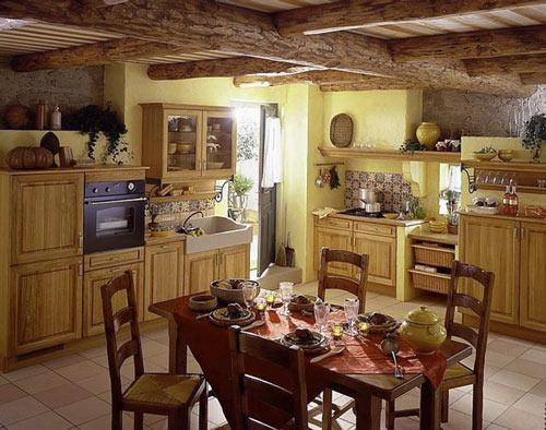 интерьер кухни в стиле прованс фото (9)