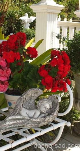 винтажный стиль в саду