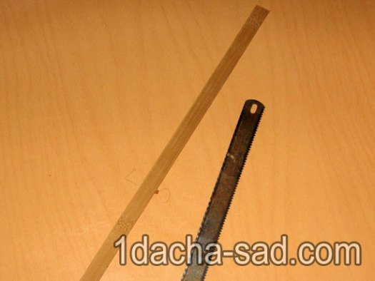 Режем бамбук полотном по металлу