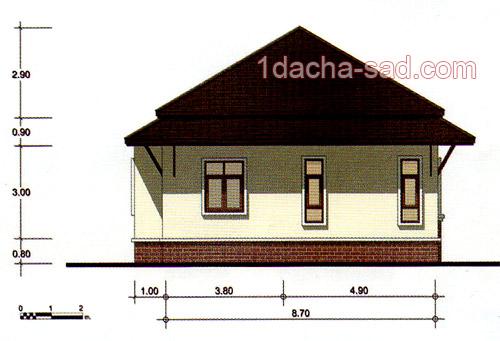 проект 3-комнатного дома