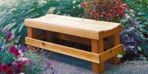 Подробное описание проекта садовой скамейки