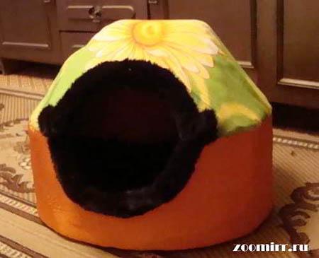 Будка из поролона из ткани для маленькой собачки
