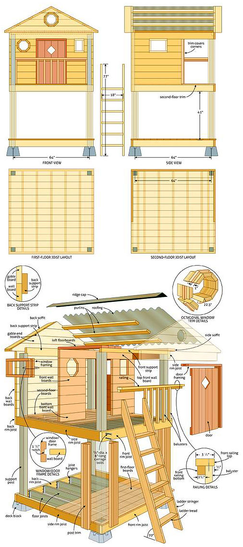 План схема детского игрового домика