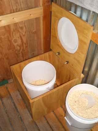 Дачный туалет системы пудр клозет