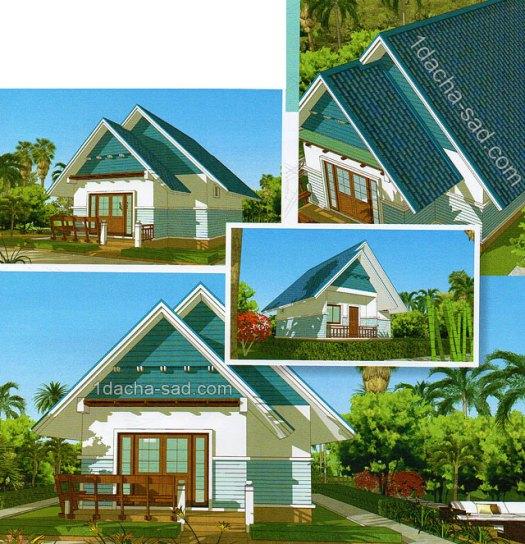 2 - Проект одноэтажного дома 6 на 9 м