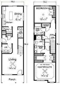 проект узкого длинного дома 1