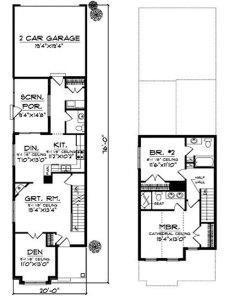 проект дома для длинного участка