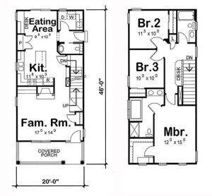 проекты дома для узкого участка