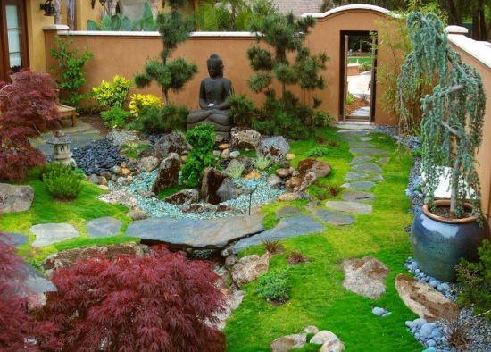 Пример японского сада в ландшафтном дизайне
