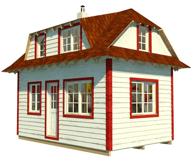 25 проектов дачных домиков эконом класса