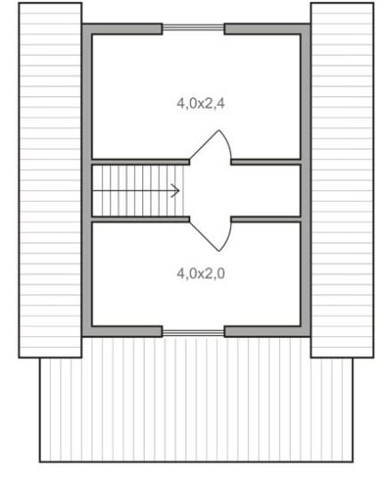 планировка мансардного этажа каркасного дома 6 на 6 м