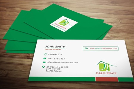Real estate business card template preview   BarnerDesign Real estate business card template preview