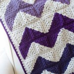 Granny Squares Chevron Afghan Crochet Pattern One Dog Woof