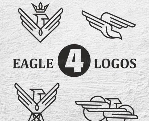 04 UNIQUE AND LUXURY EAGLE LOGO DESIGN.