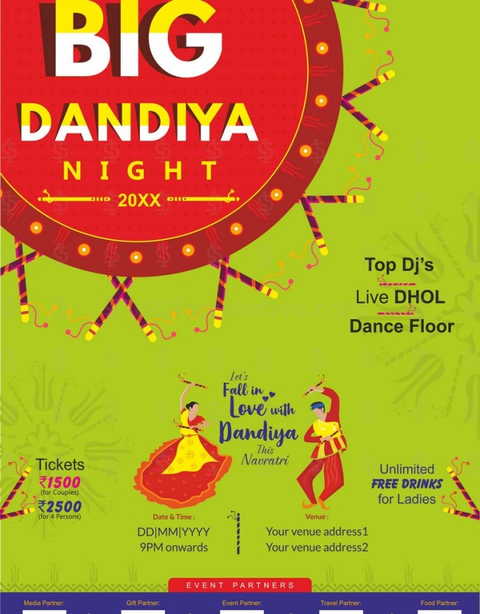 Big Dandiya Night Template