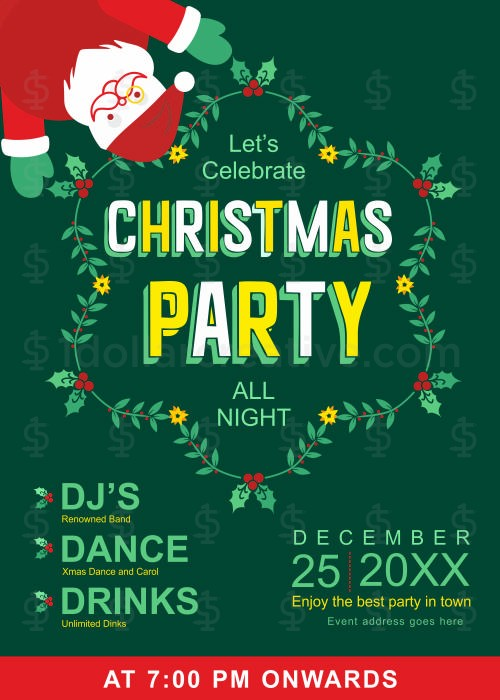 Christmas party invites-2