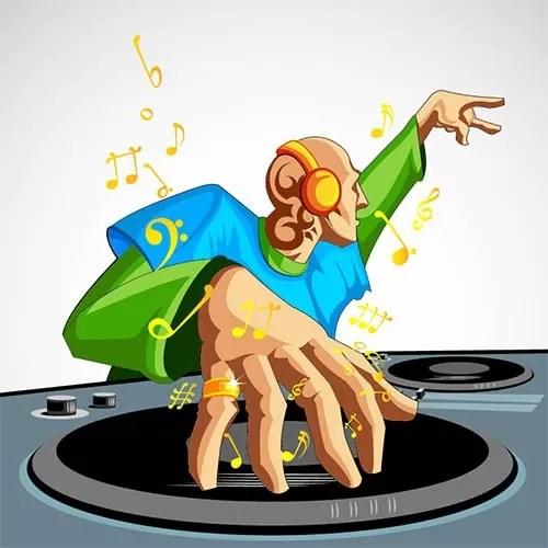 Een Deejay op uw feest, speelt uw muziek voorkeuren