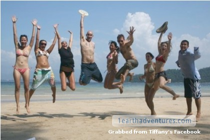 If you're on a beautiful beach for Chinese New Year and you're happy and you know it - JUMP!