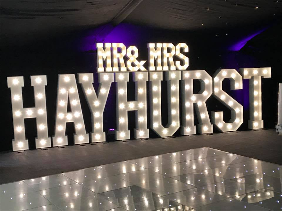 Illuminated Light Up Letter Hire In Kent, Essex, London