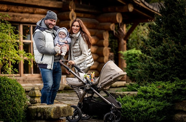 Lucie and Jiří Šlégr went on holiday to the cabin with their son Ron.