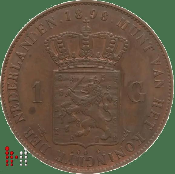 Gulden 1898 proefslag in Brons