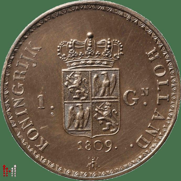 Gulden Napoleon 1807 brons